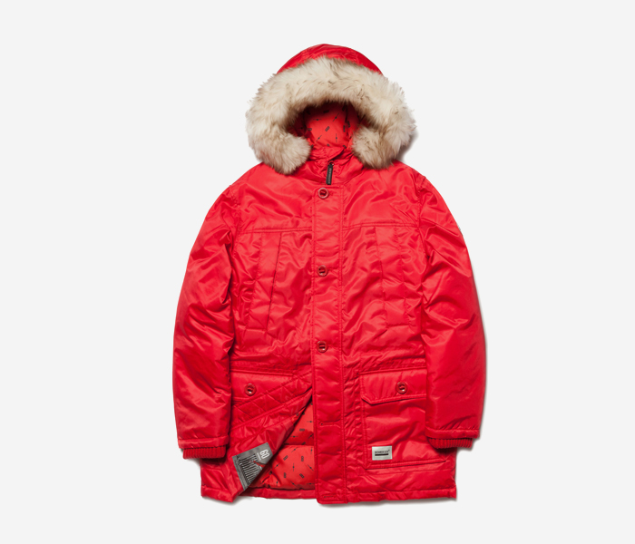 PENTA DUCK DOWN PARKA - RED brownbreath