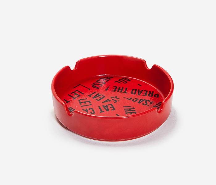 BXC COVER ASHTRAY - RED brownbreath