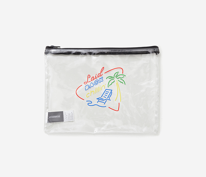 LBC CLEAR M.POUCH - CLEAR brownbreath