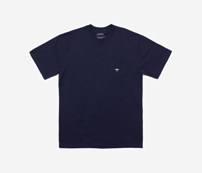 SURF POCKET TEE - NAVY brownbreath