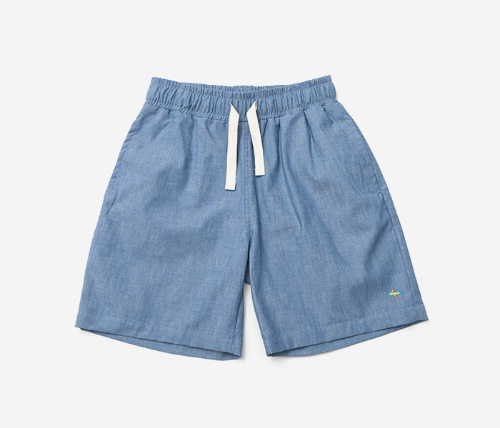 SURF CHAMBRAY SHORTS - BLUE brownbreath