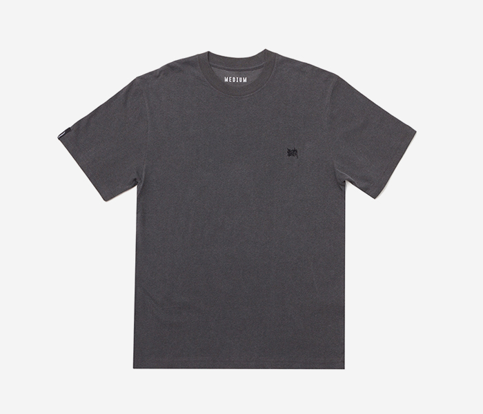 TAGGING PIGMENT DYE TEE - GREY brownbreath