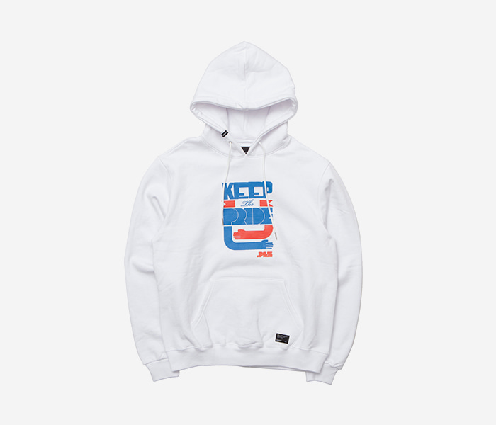 KEEP THE PRIDE HOODIE - WHITE brownbreath