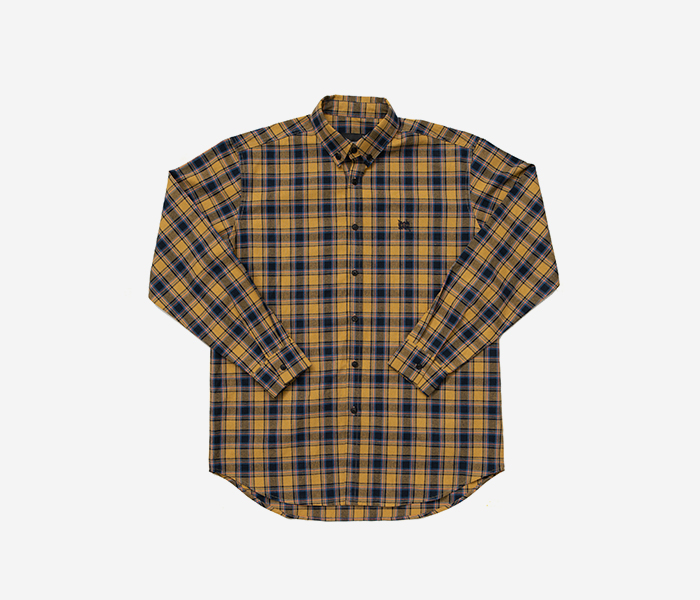 TAGGING CHECK SHIRTS - YELLOW brownbreath