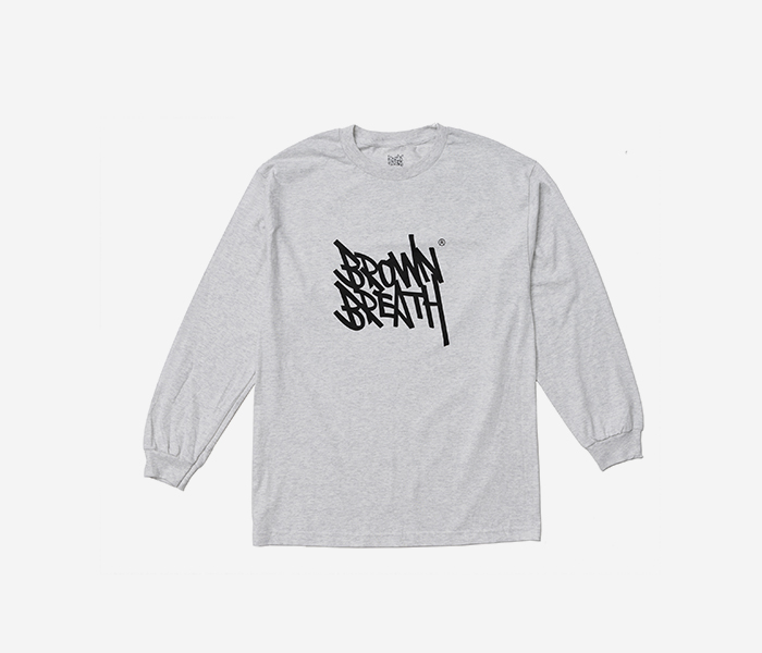 TAGGING LONGSLEEVE - ASH brownbreath
