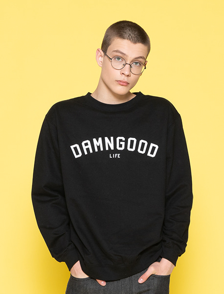 DAMNGOOD CREWNECK - BLACK brownbreath