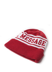 STM BEANIE MG - RED brownbreath