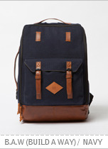 B.A.W (Build a way) Backpack - Navy brownbreath