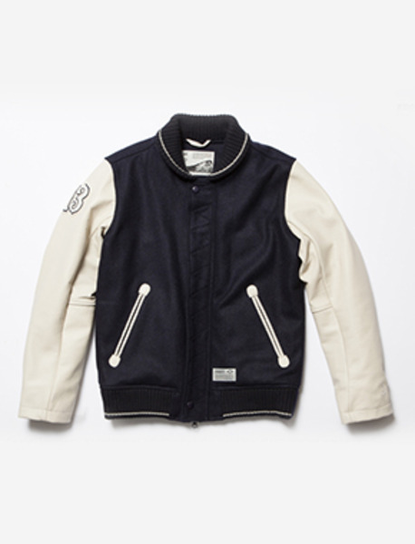 RHOMBUS STADIUM JACKET - NAVY brownbreath