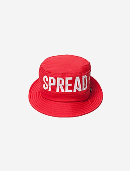 STM BUCKET HAT - RED brownbreath