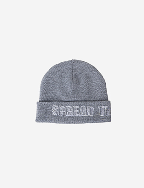SPREADING BEANIE - GREY brownbreath