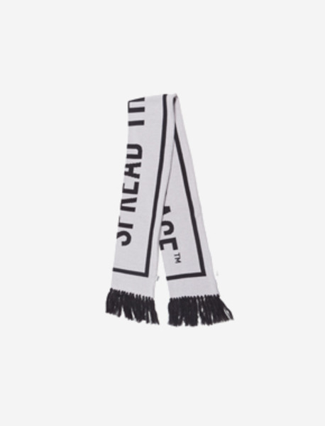 SLOGAN SCARF - GREY brownbreath