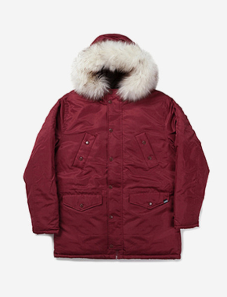 WILL PARKA - BURGUNDY brownbreath