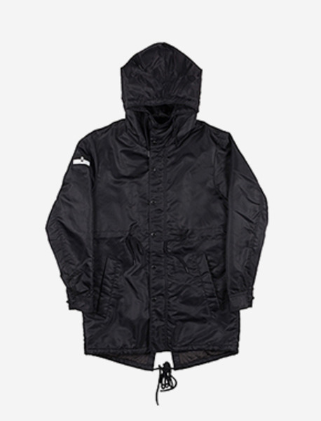 B FLAG FISHTAIL JKT - BLACK brownbreath