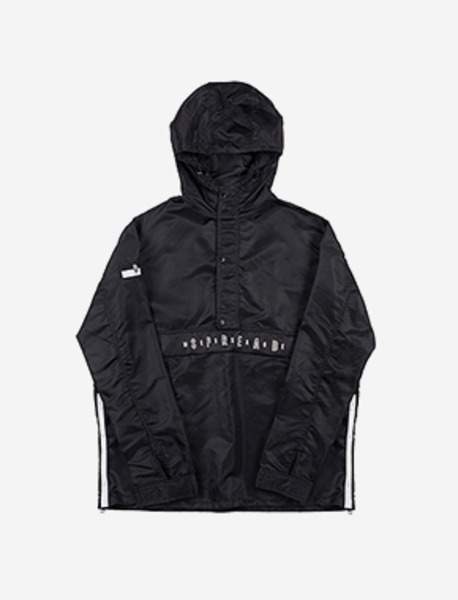 B FLAG PULLOVER - BLACK brownbreath