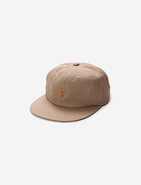 B 6PANNEL CAP brownbreath