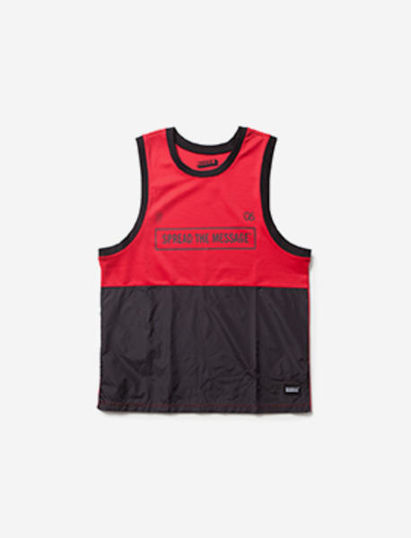 TEAMS BLOCK SLEEVELESS brownbreath