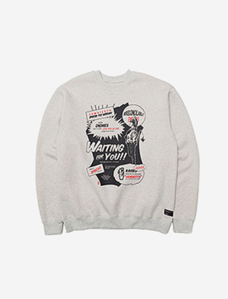 WAITINGFORYOU CREWNECK - OATMEAL brownbreath