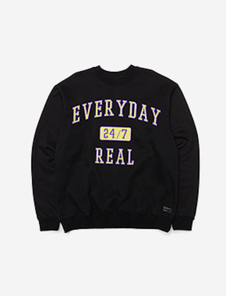 247 CREWNECK - BLACK brownbreath
