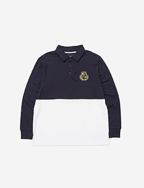 B EMBLEM RUGBY T - NAVY brownbreath