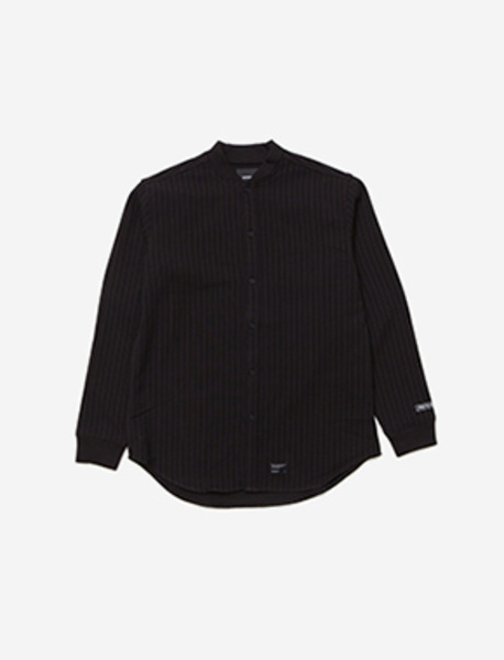 SPREAD RIB SHIRT - BLACK brownbreath