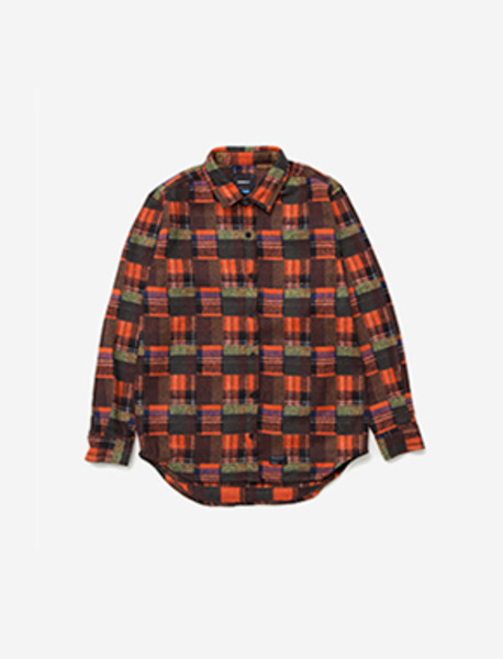 CRACK HEAVY SHIRT - ORANGE brownbreath