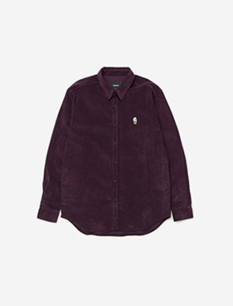 VENDETTA CORDUROY SHIRT - PURPLE brownbreath