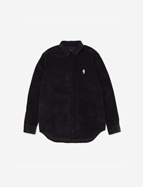 VENDETTA CORDUROY SHIRT - BLACK brownbreath
