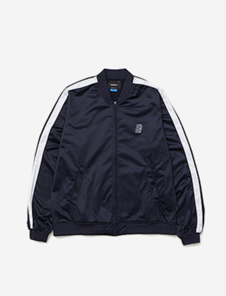 B MOVE JERJEY JACKET - NAVY brownbreath