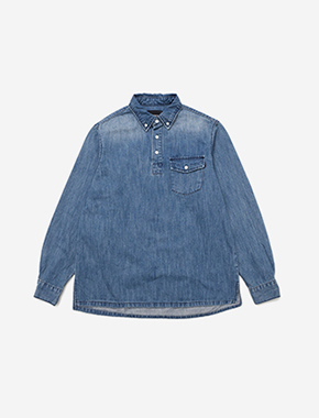 PULLOVER DENIM SHIRT - BLUE brownbreath