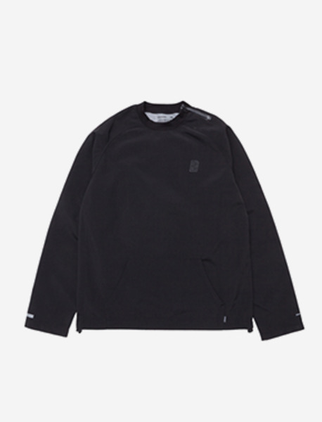 LACK WOOVEN CREWNECK - BLACK brownbreath