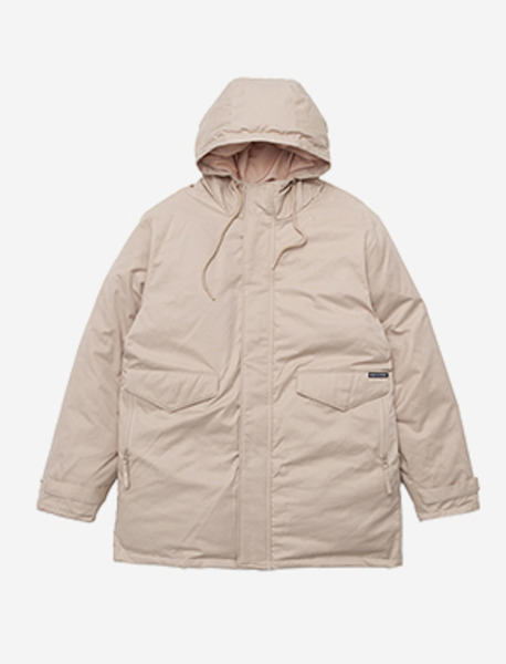 OCCUR LONG PARKA - BEIGE brownbreath