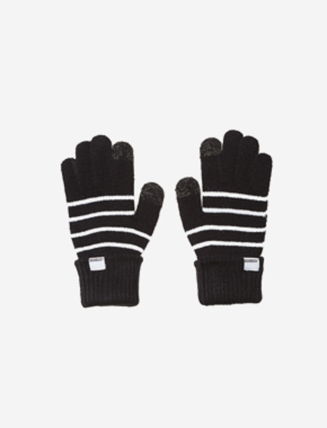 STRIPE GLOVES - BLACK brownbreath