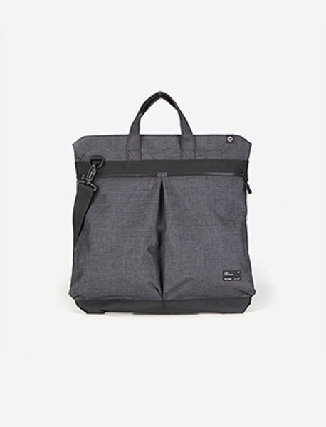 N043 CIVITAS TOTE BAG(H) - GREY brownbreath