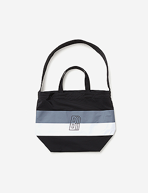 B BLOCK CROSS M.BAG - BLACK brownbreath