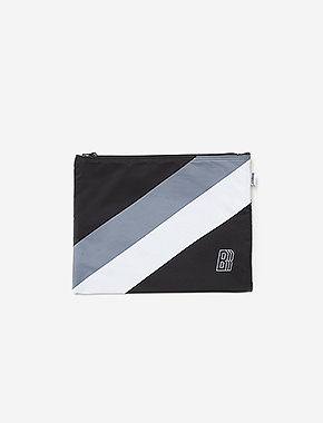 B BLOCK M.POUCH - BLACK brownbreath