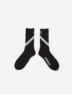 B BLOCK SOCKS - BLACK brownbreath