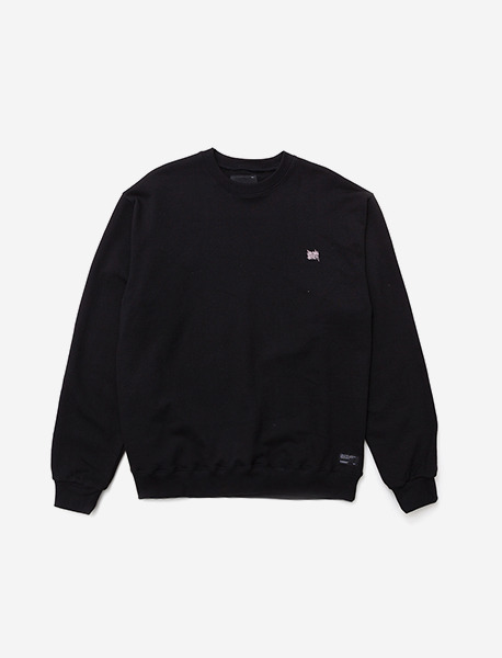 TAGGING CREWNECK - BLACK brownbreath
