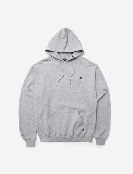 TAGGING HOODIE - GREY brownbreath