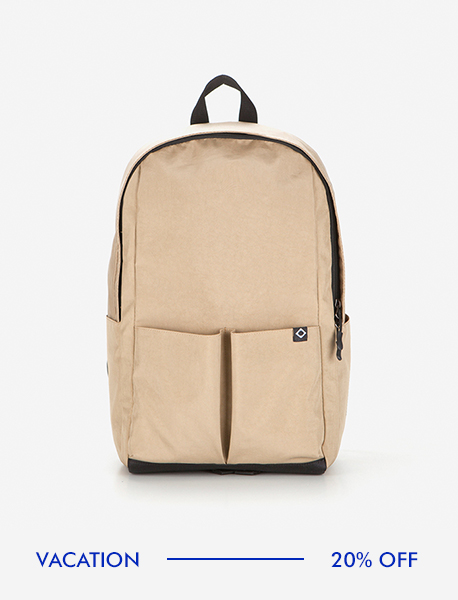 N023 MOTIVE DAYBAG - BEIGE brownbreath