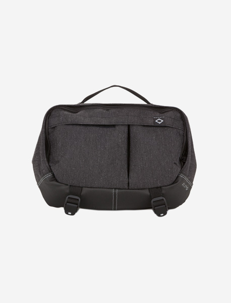 N395 GRAVITY WAISTBAG - 2TONE GREY brownbreath