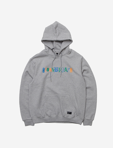 COMPOUND HOODIE - GREY brownbreath