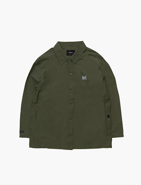 TAGGING COACH JACKET - KHAKI brownbreath