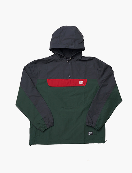 TAGGING ANORAK - GREEN brownbreath