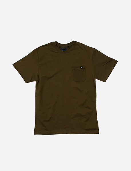 LABEL POCKET TEE - KHAKI brownbreath