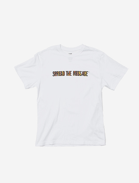 SLOGAN TEE - WHITE brownbreath