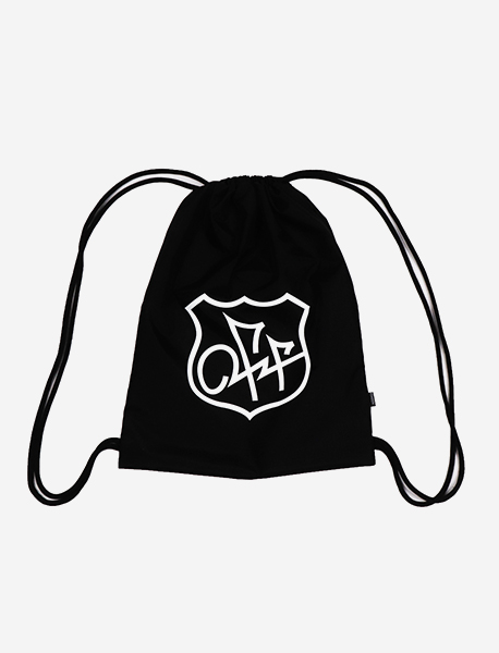 OFF ROUTE LOGO KNAPSACK - BLACK brownbreath