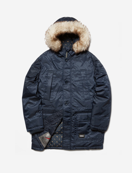 PENTA DUCK DOWN PARKA - NAVY brownbreath