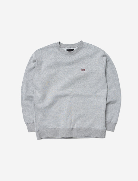 TAG CREWNECK - GREY brownbreath