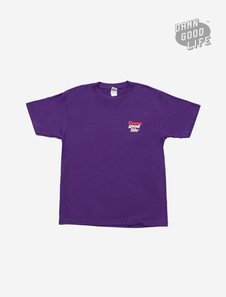 DGL WORD TEE - PULPLE brownbreath